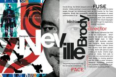 Homage Poster: Neville Brody by Ah-Young Jeon, via Behance