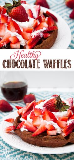 Make breakfast something special with these Healthy Chocolate Waffles. All the chocolatey goodness you love, but with a few secret ingredients to pack them full of nutrition for the whole family. | OHMY-CREATIVE.COM
