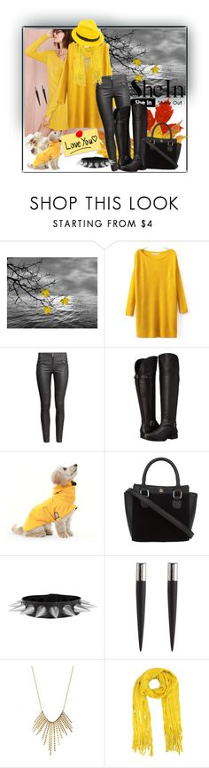 """♥ Split Yellow Sweater ♥ in Shein ♥"" by vv23 ❤ liked on Polyvore featuring WALL, H&M, Naturalizer, Eddie Borgo, Charlotte Russe and Mademoiselle Slassi"