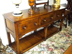 """Solid Oak """"Tower Server"""" - one of only a handful made - original in the Tower of London Tower Of London, Solid Oak, Castles, Entryway Tables, The Originals, House, Furniture, Home Decor, Decoration Home"""