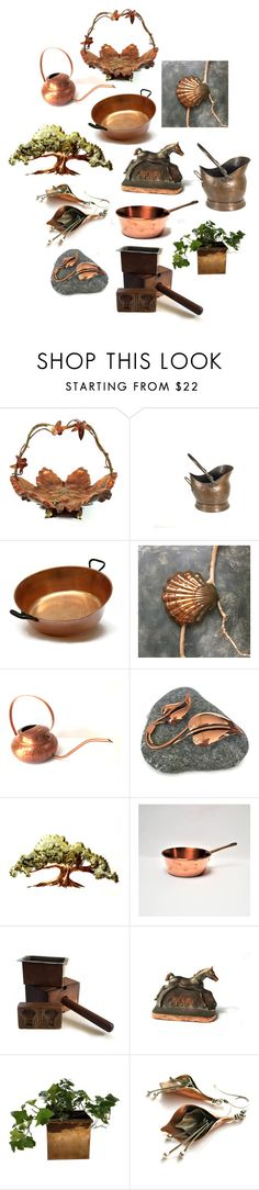 """""""Unique Copper Gifts"""" by patack ❤ liked on Polyvore featuring interior, interiors, interior design, home, home decor, interior decorating and vintage"""
