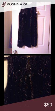 "Cute Sexy Short and Chic Sequin Dress Never worn Rachel Roy A-Line Short Sexy ""Black Little Dress"" Rachel Roy Dresses Mini"