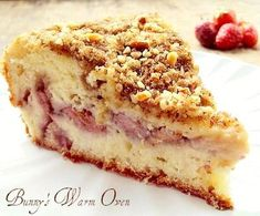 Fresh Strawberry Cream Cheese Coffee Cake Made with cream cheese in the batter and a layer of fresh strawberries baked in the middle, this is one delicious cake!