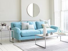 Take a look at our wicked range of sitting room furniture, from snug sofas and daybeds for dozing to seriously cool coffee tables. White Painted Furniture, Art Deco Mirror, Wall Mirror, Comfy Sofa, Cool Coffee Tables, Sofa Seats, Fabric Sofa, Home Decor Bedroom, Interiores Design