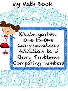 Workbook materials for intervention, Pre-K or Kinder math skills. Easy to use! Teach:*One-to-One Correspondence*Addition within 5*Story Problems using Addition*Comparing Numbers and Visuals to find More and Less thanEarning TPT CreditsDo you want credit for future TPT purchases?