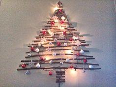 Kerstboom van takken