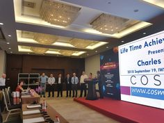 Life Time #Achievement Award for Mr.Charles Symons, Co-innovator of COSMIC FP, Innovator of Mark II Function Point, UK. Presented by Dr.K.R.Jayakumar at Beijing china, Sep-2018.