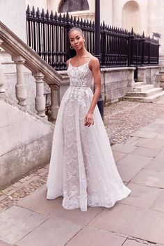 Adore by Justin Alexander Style 11188 Rustic Wedding Dresses, Modest Wedding Dresses, Boho Wedding Dress, Designer Wedding Dresses, One Shoulder Wedding Dress, Prom Dress, Lace Wedding, Girls Dresses, Flower Girl Dresses