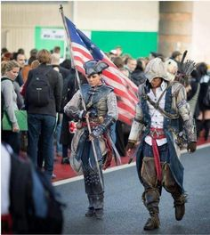 Assassins Creed Liberation. Aveline and Connor. This cosplay never ceases to amaze me.