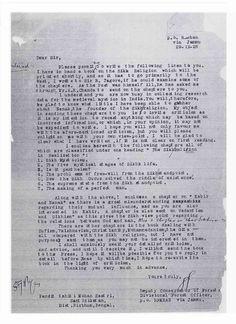 Sikh Digital Library: Bhai Sher Singh (MSc) Kashmir's September 29, 1928...