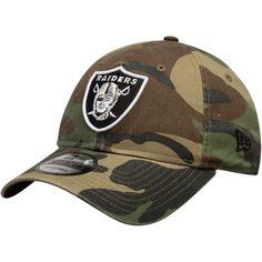 Men s Oakland Raiders New Era Woodland Camo Primary Logo Core Classic 9TWENTY  Adjustable Hat 0153ab07d84e