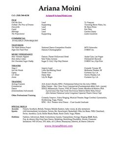 Resume Musical Theatre Resume Examples Acting Resume Template Actors Resume  Examples Acting Job