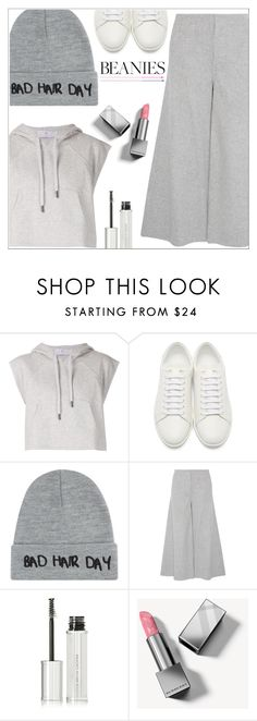 """""""Bad hair day"""" by simona-altobelli ❤ liked on Polyvore featuring adidas, Yves Saint Laurent, Local Heroes, Theory, Givenchy, Burberry, monochrome, grey, MyStyle and beanies"""