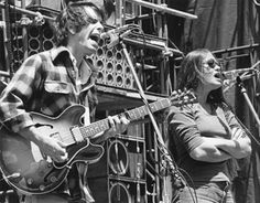 Bob Weir and Donna Jean, on stage with the Grateful Dead and the Wall of Sound in the early 1970s.