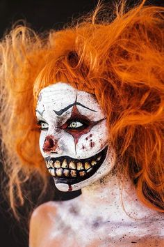 evil and scary clown