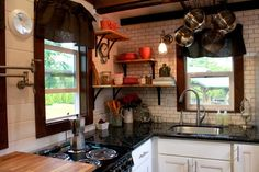 Kitchen sink and electric range - Craftsman by Tiny Heirloom