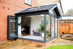 Our Modern Conservatory Extension- Before and After (Home Renovation Project - Mummy Dadd. Our Modern Conservatory Extension- Before and After (Home Renovation Project - Mummy Daddy Me House Extension Design, Glass Extension, Rear Extension, Porch Extension, Patio Extension Ideas, Garden Room Extensions, House Extensions, Furniture Top View, Home Design Decor