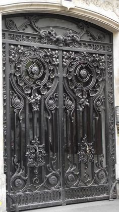 ♅ Detailed Doors to Drool Over ♅  art photographs of door knockers, hardware & portals - Wrought Iron Doors Paris