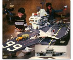 G.I. Joe Aircraft Carrier! This behemoth was over 7 ft. long. And all those stickers...