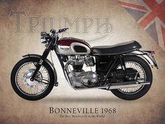 Triumph Bonneville 1968 Print By Mark Rogan