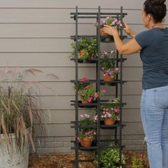 Diy Wall Planter, Diy Planters, Hanging Planters Outdoor, Pallet Planters, Planter Boxes, Garden Planters, Wood Trellis, Container Plants, Plant Containers