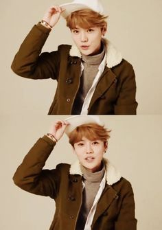 Luhan promotion for Izzue's new hat line with Luhan's logo.
