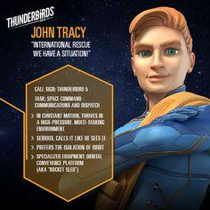 John Tracy profile. Thunderbirds