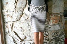 8 second skirt w/bow