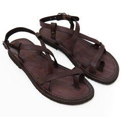 Sandalo melpignano marrone da donna