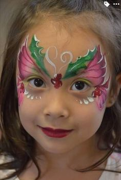 Face Painting Images, Face Painting Tips, Face Painting Tutorials, Eye Painting, Face Painting Designs, Face Paintings, Butterfly Face Paint, Christmas Face Painting, Animal Paintings