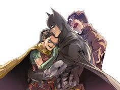 batman robin bruce wayne jason todd Red Hood my feels jaybird Batman Y Superman, Batman Robin, Wayne Family, Bat Family, Red Hood Jason Todd, Univers Dc, Bat Boys, Jay Bird, Dc Memes