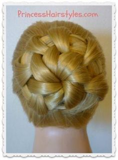 """Homecoming hairstyle """"star flower bun"""" by hollie"""