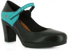 chaussures à talons en cuir noir Art Company