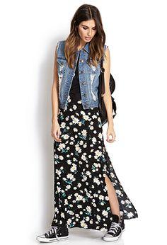 Flower Child M-Slit Maxi Skirt   FOREVER21 - 2000070476