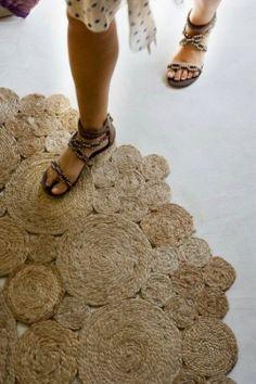 repurposed rope into rug
