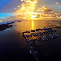 Gorgeous aerial sunset photo over the Baytowne Marina at Sandestin. Where will you travel next?
