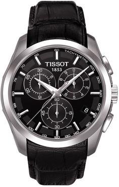 Tissot T-Trend Couturier Black Dial Chronograph Mens Watch #men #watches