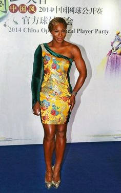 Serena Williams styling at the Beijing Open Player's party.