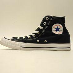 abadbb4fb661 Converse Mens US 11 EU 45 Black Canvas Chuck Taylor All Star High Top Shoes