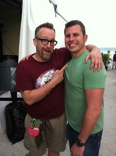 """With Tom Bury from """"Restaurant: Impossible"""" at South Beach Wine and Food Festival, 2/12."""