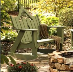 V053 Veranda Settee Rocker Uwharrie Patio Furniture Pressure Treated Pine