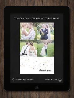 DIY Wedding Booth - Professional Photo Booth with Direct Printing for Instant Party Favors by Alexandra Yakman