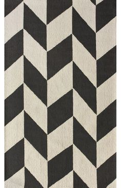 Rugs USA Homespun Chevron Charcoal Rug