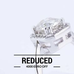We have selected one of our most favourite engagement rings and have cut the price down by This beautiful ring has been hand crafted from white gold and sports an impressive ct. This offer applies to one ring only - first come, first serve. One Ring, Halo Rings, Beautiful Rings, Colorful Backgrounds, White Gold, Jewellery, Jewels, Engagement Rings, Diamond