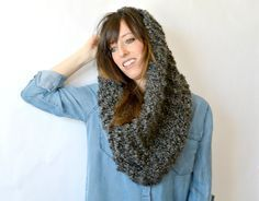Make this fast and easy Super Duper Tall Cowl with just one skein of Lion Brand Homespun Thick & Quick! Get the free pattern by Mama in a Stitch and make yours with one ball of yarn (pictured in Edwardian) and size 35 knitting needles.
