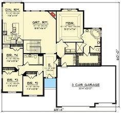 Plan 89941AH: 4 Bed Prairie Style Ranch House Plan