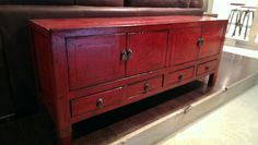 """STUNN-ING, fresh from our latest shipment comes the perfect media console from Shanxi China. This piece features four doors opening into two cabinetes and four drawers beneath all in this compact style. 23"""" H, 56"""" W, 15"""" D-$850"""