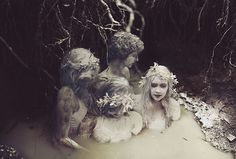 Graveyard Girls: A Photo Shoot with a DIY Dam, Water, Milk, and Flour Covered Girls bolen2