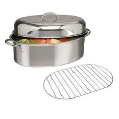 "GH 16"""""""" Oval Roaster w Lid Rack"