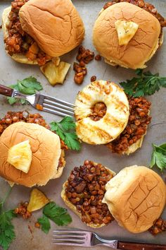Hawaiian Vegan Sloppy Joe
